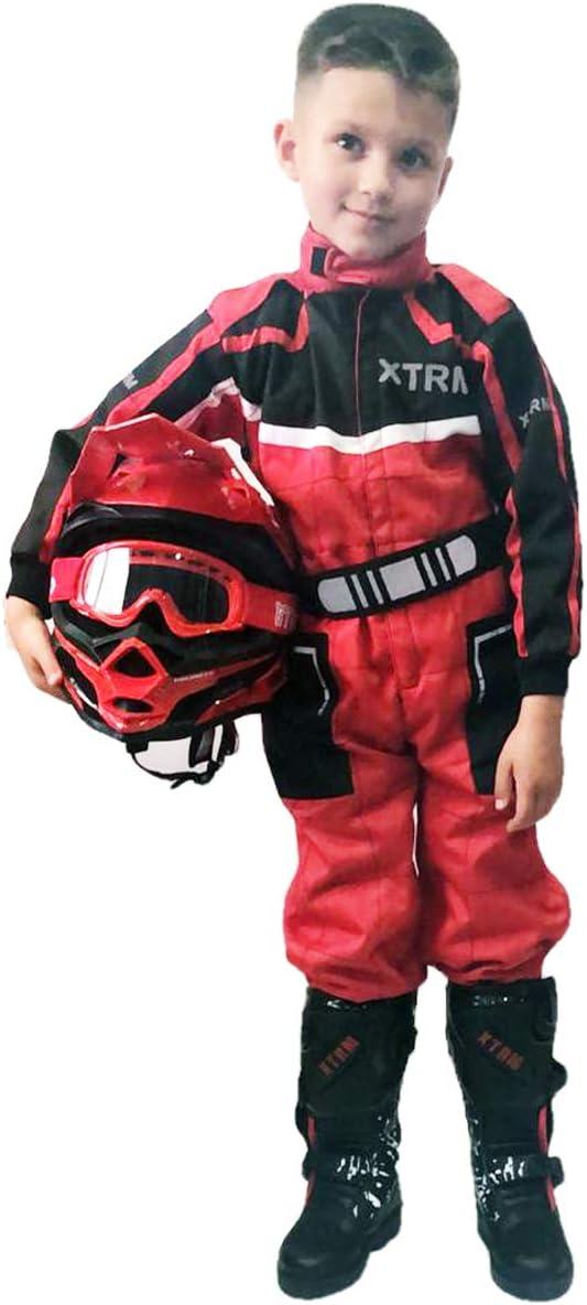 XTRM Junior Motocross Kids Kart Suit Bambino Quad Bike MX off Road Go-Karting Enduro Bambino ATV Sport Tuta Racing One Piece