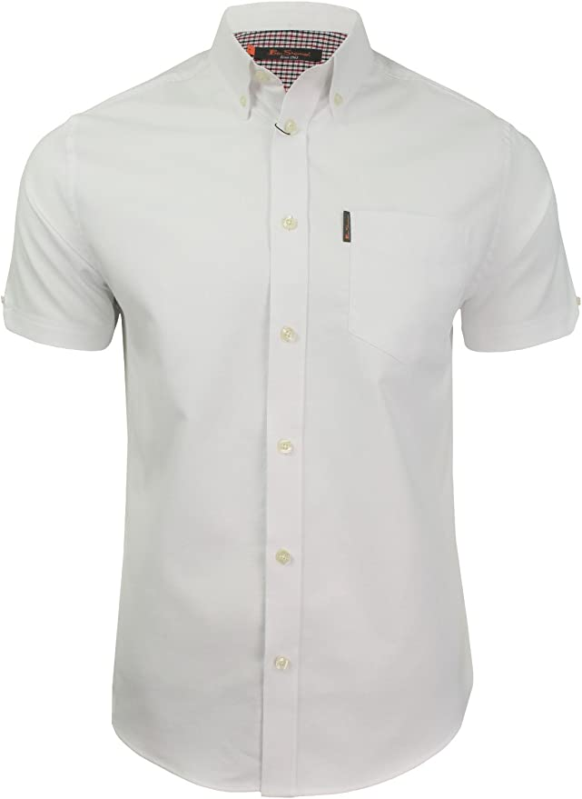 Mens Vintage Shirts – Casual, Dress, T-shirts, Polos Mens Oxford Shirt by Ben Sherman Short Sleeved  AT vintagedancer.com