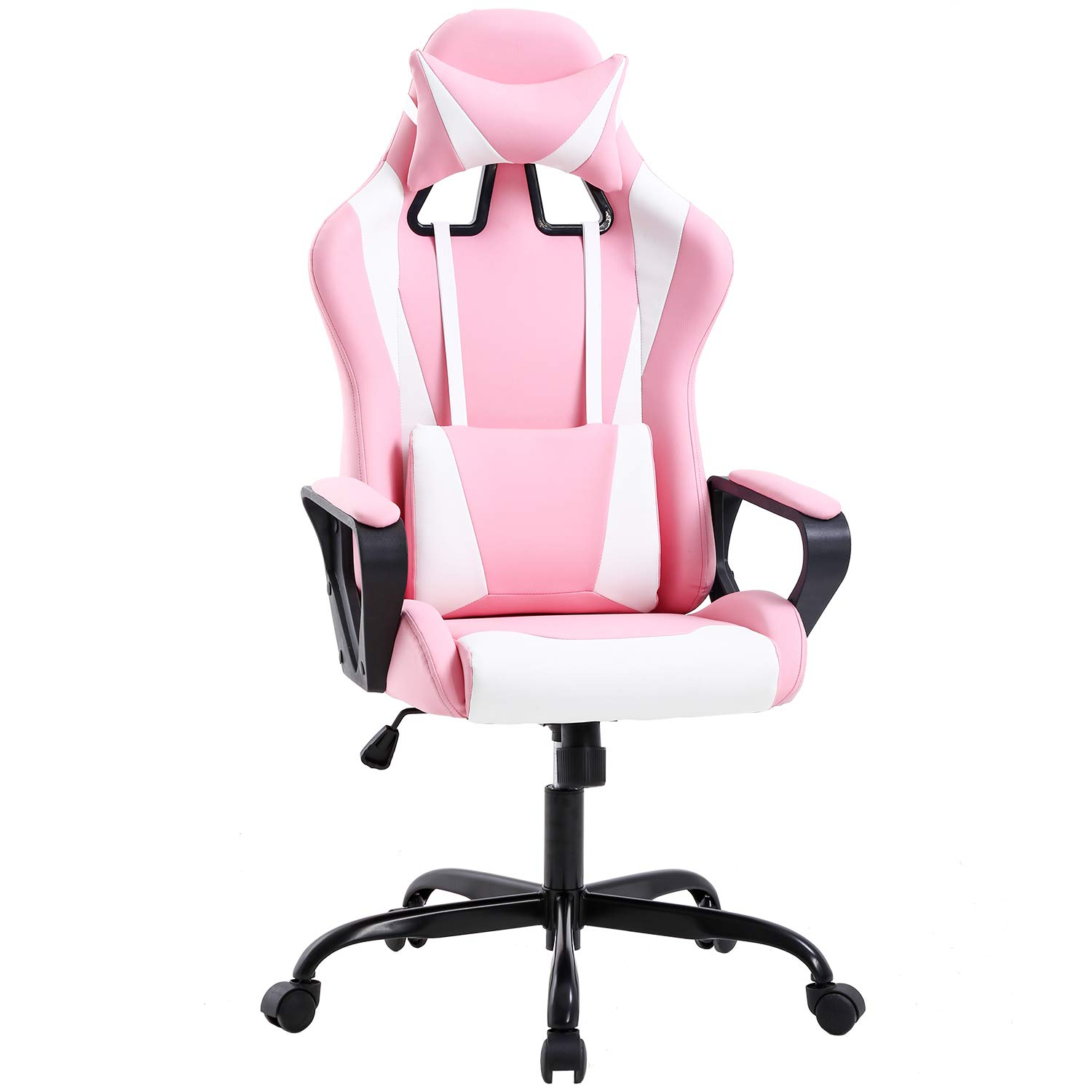 Gaming Chair Office Chair Desk Chair Ergonomic Executive Swivel Rolling Computer Chair with Lumbar Support, Pink by BestOffice