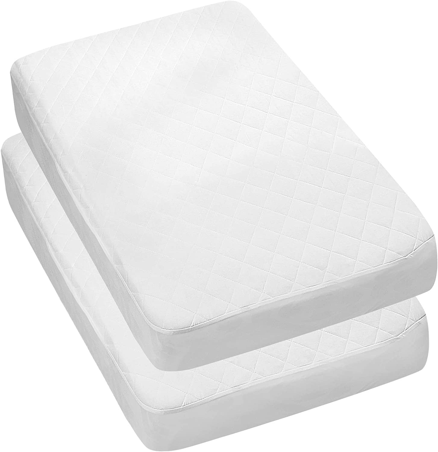 8. Utopia Bedding Waterproof Crib Mattress Protector (Hypoallergenic, 2 Pack)