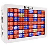 1000W LED Plant Lights with Reflector-Series, Mrhua Full Spectrum Plant Growing Lamps with Daisy Chain for Indoor Plants Hydroponic Greenhouse Seedlings Veg & Flowering(224LEDs)