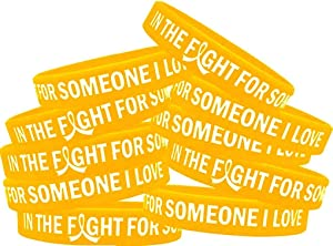 in The Fight for Someone I Love Silicone Wristband Bracelet Premium Quality 10-Pack (Assorted Colors)