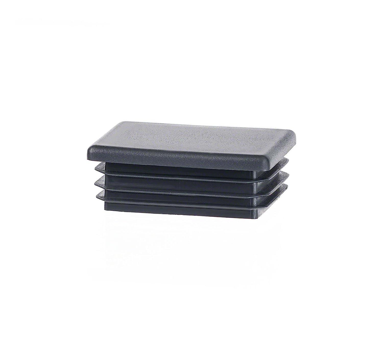 10 piezas tapó n para tubo rectangular 30x20 antracita plá stico tapa de extremo tapas EMFA rectangle tubing cap