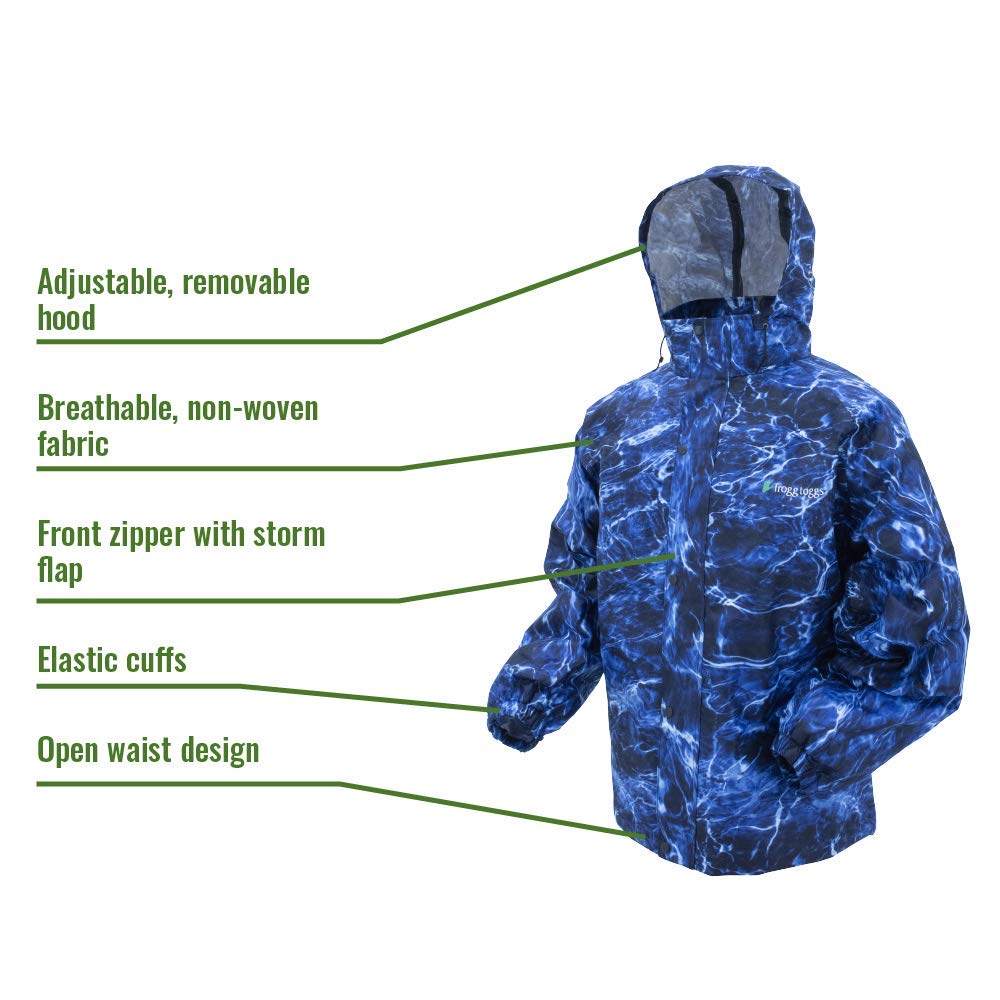Frogg Toggs All Sport Rain Suit, Blue Marlin/Black, Small by Frogg Toggs (Image #2)