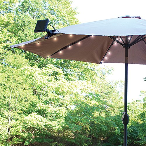 Top 10 best patio umbrellas with solar lights best of for Best outdoor umbrellas reviews