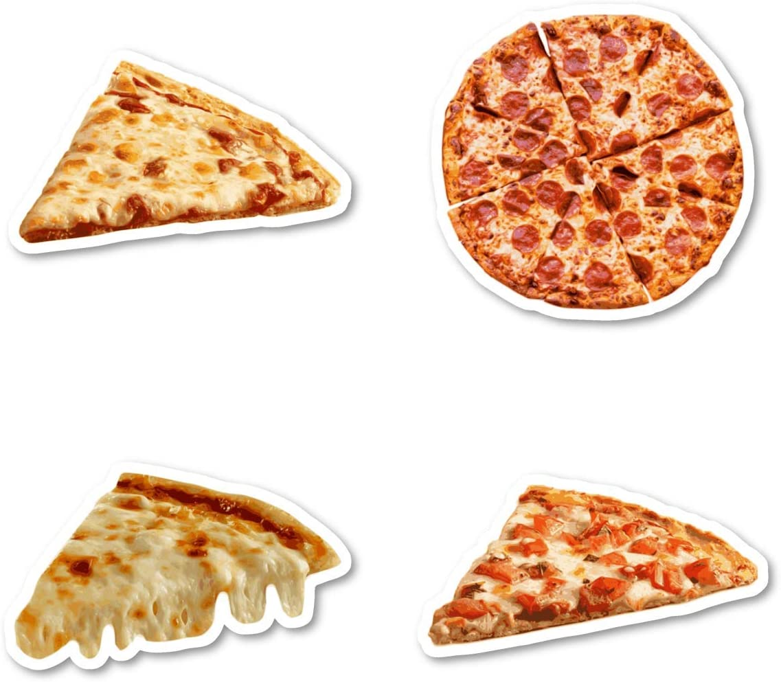 Pizza Lover Sticker Pack Pizza Stickers - 4 Pack - Sticker Vinyl Decal - Laptop, Phone, Tablet Vinyl Decal Sticker (4 Pack) S183147