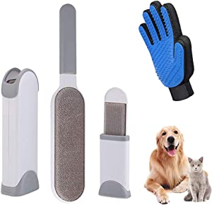 Genericaa Lint Brush - Pet Hair Remover and Pet Grooming Gloves, Lint Remover Brush, Dog Hair Remover, Cat Hair Remover, Reusable Pet Hair Remover Brush, No Refills and No Waste