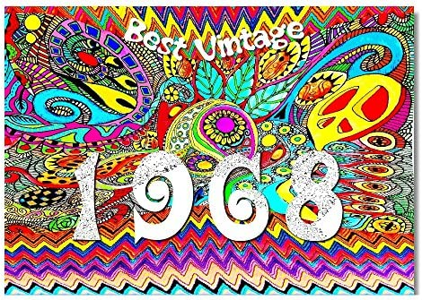 DigitalOase 1968 Best Vintage Tarjeta de 50. cumpleaños 50 ...