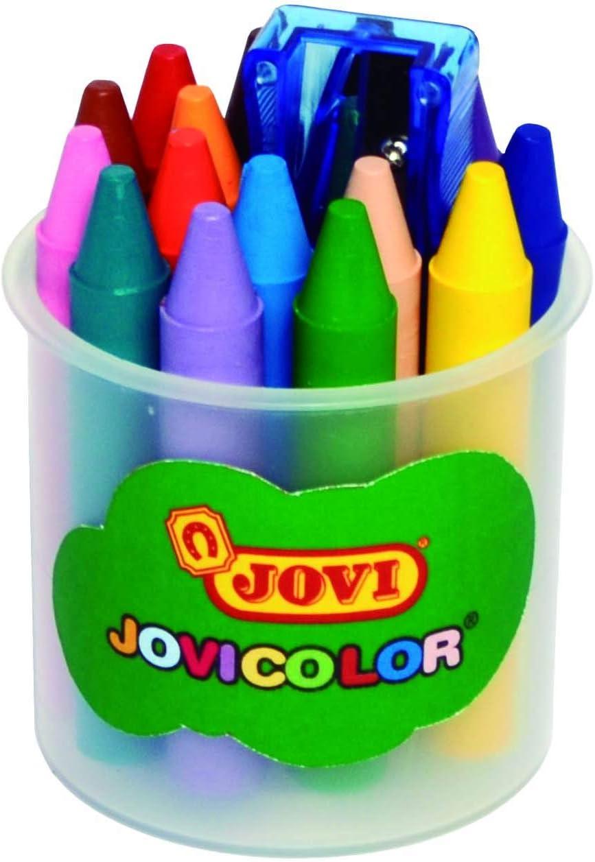Jovi 980//16 Assorted Wax Pencils with Sharpener