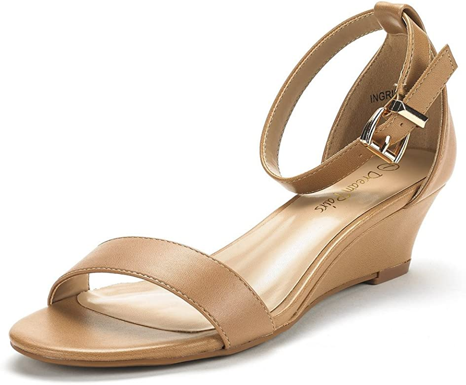 b3415d1c5819b Women's Ingrid Ankle Strap Low Wedge Sandal