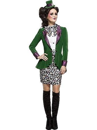 Erdbeerclown Damen Frauen Kostum Verruckter Hutmacher Rock Mit