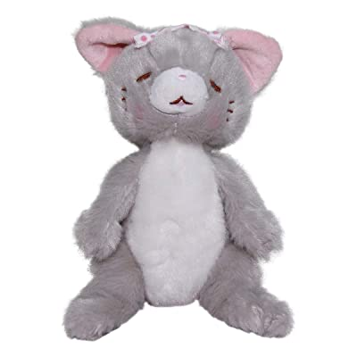 Plush Super Soft Cute Neko Doll Japanese Cat Plushie Toy Kawaii Kitten Grey Gray Hot Springs Collection 6 Inches: Toys & Games