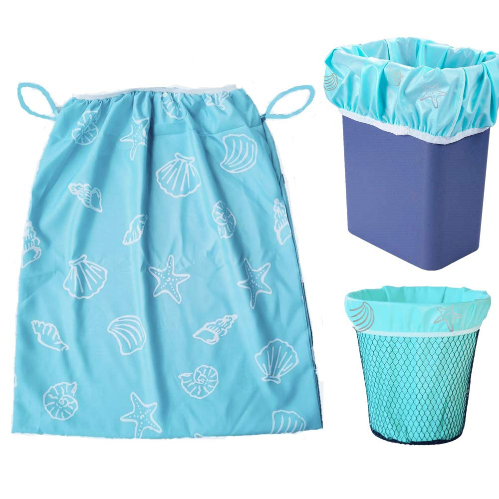 3Pcs Waterproof Wet Bag, Reusable Large Capacity Washable Diaper Pail Liners, Laundry Kitchen Garbage Cans Cloth Diapers