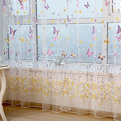 Amazon.com: Butterfly Curtains Butterfly Curtains For Girls ...