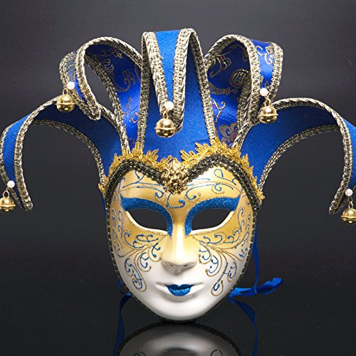 Party Masks - Men Women Masquerade Mask Halloween Venetian Costumes Carnival Anonymous Creative Christmas Masks - Male Wear Pack Stick Superhero Gold Party Dinosaur Adults Women Capes Lac]()