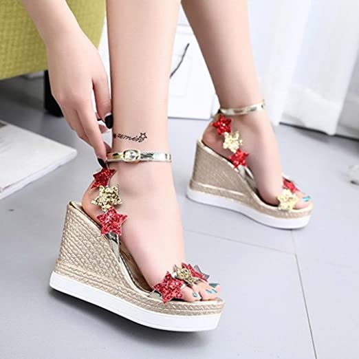 Amazon.com: Hot Sale!Women Summer Sandals 2018 Todaies Women Fish Mouth Platform Sandals High Heels Wedge Sandals Shoes: Clothing