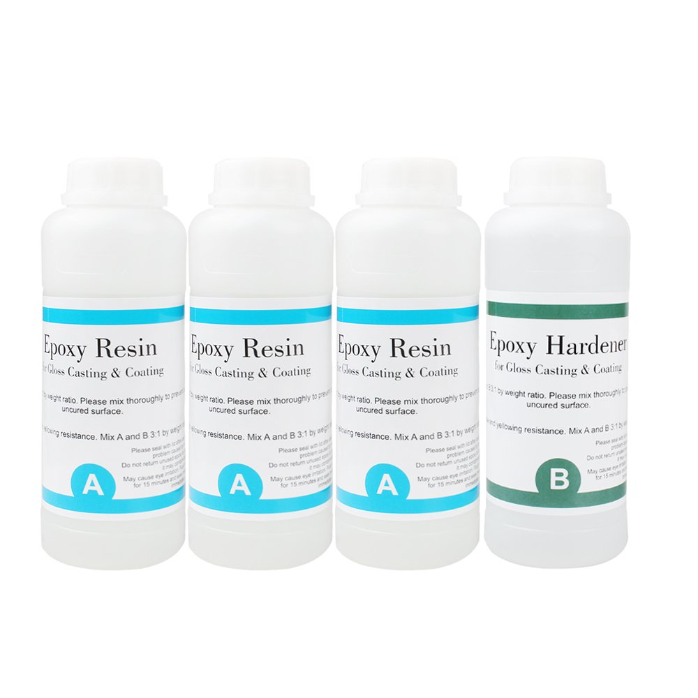 Epoxy Resin, Crystal Clear Epoxy Resin, Designed for Tabletop, Super Gloss Coating, Bars, Ornament, Craft Casting, UV Stable and Yellowing Resistance Recommend for Indoor -70 Ounce Kit