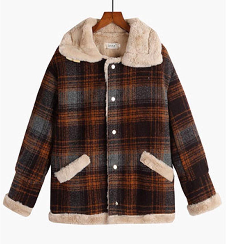 Sunfei Mens Winter Deer Velvet Skin Pea Coat Parka Fleece Thickening Coat Outwear Clearance
