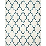 Safavieh Kids Shag Collection SGK569C Ivory and Blue Area Rug (8'6″ x 12′)