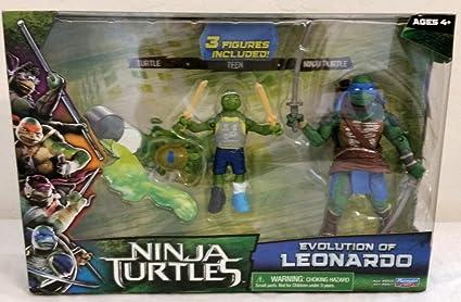 Teenage Mutant Ninja Turtles Movie Action Figure Set, Evolution of Leonardo