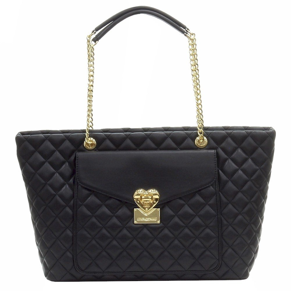 LOVE Moschino Women's Quilted Tote Black Tote