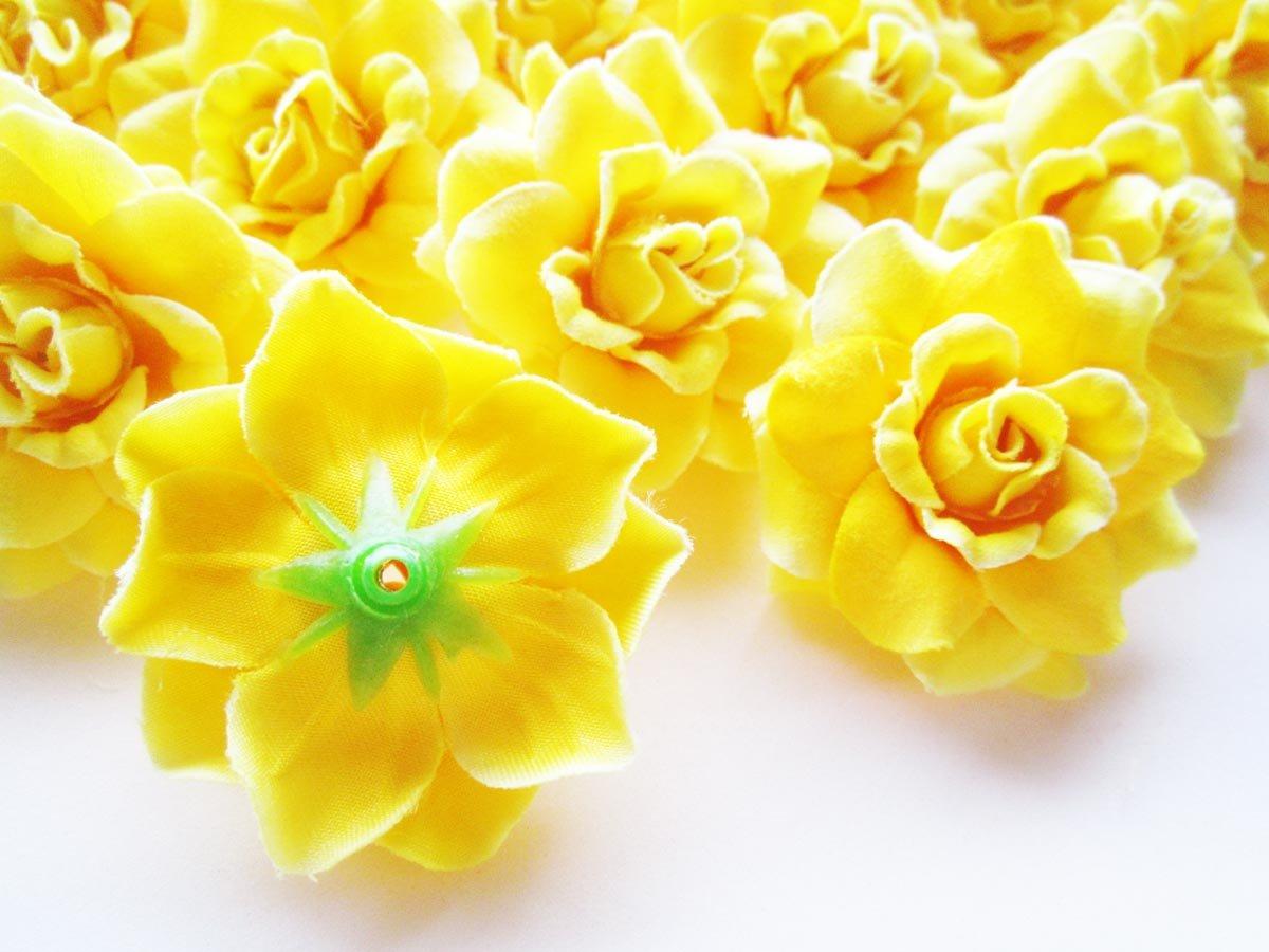 Amazon 24 Silk Yellow Roses Flower Head 175 Artificial