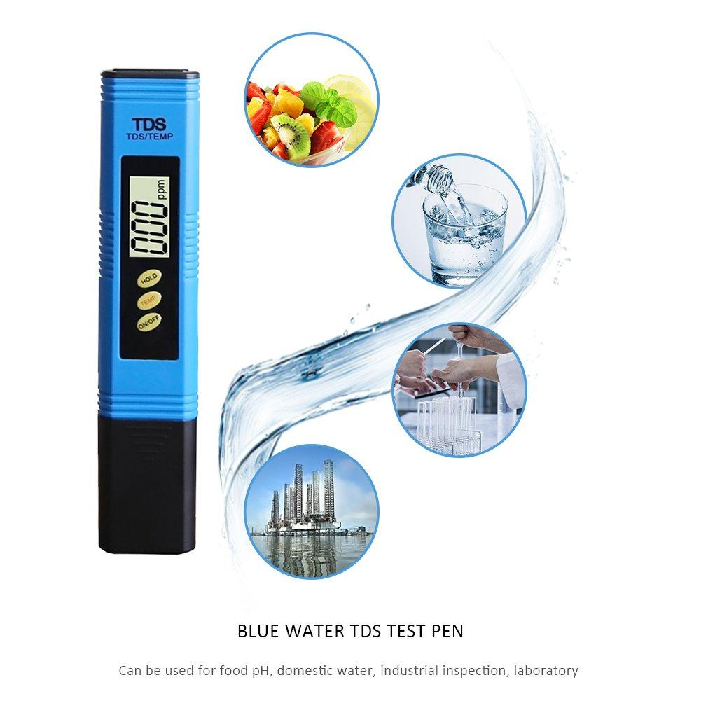 Laduup Digital TDS Meter Aquarium Spa Piscine leau Potable id/éal Testeur deau Potable pour la Maison hydroponique