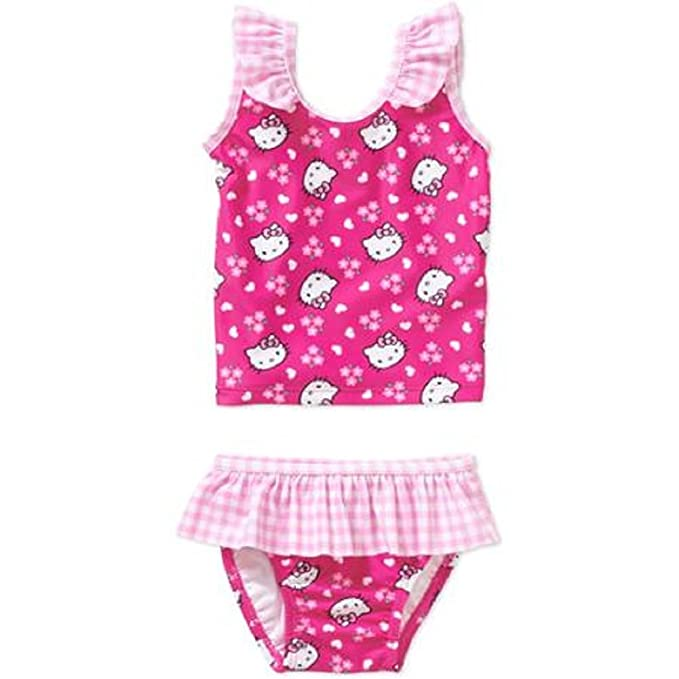 1343998dd2 Amazon.com: Hello Kitty Baby Girls 2 Piece Tankini Swimwear (3-6 ...