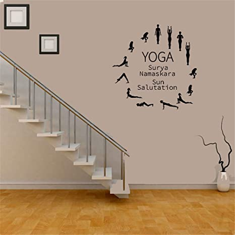 pegatinas de pared bebe Wall Decal Quote Yoga Surya ...