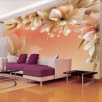 300 cmX 210 cm Custom 3D Fototapete moderne Blume Wandbild Tapete ...