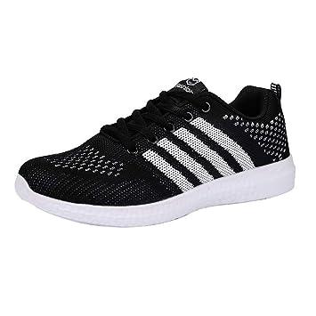 ZHRUI Zapatillas Deportivas de Moda para Mujer, Ligeras, Zapatillas de Deporte para Correr al Aire Libre (Color : Negro, tamaño : 6 UK): Amazon.es: Hogar