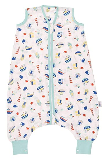 Sleeping Bag Baby Muslin Summer Sleeping Bag with Foot Holes 0.5 Tog Available in 4 Sizes Owl Design