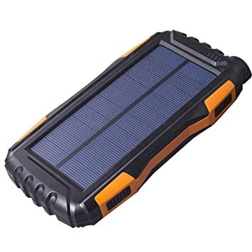 Banco de energía Solar Portale de 25000 mAh, 2,1 A, Cargador ...