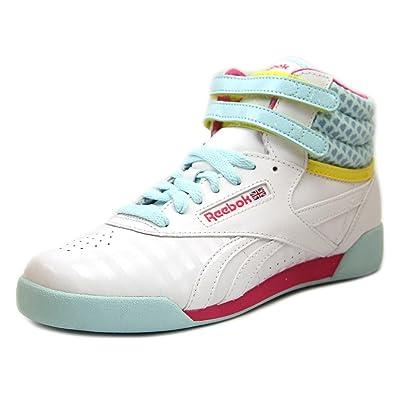 294bb6266 Reebok Freestyle Hi Youth US 5 White Sneakers