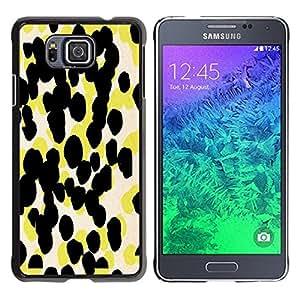 Be Good Phone Accessory // Dura Cáscara cubierta Protectora Caso Carcasa Funda de Protección para Samsung GALAXY ALPHA G850 // Yellow Pattern Abstract Art