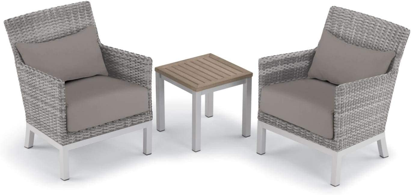 Oxford Garden 5592 Argento & Travira Furniture Set, Powder Coat Flint