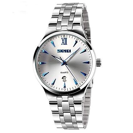 longqi Hombres Digital de cuarzo relojes de pulsera de acero completa buceo 30 m reloj Casual