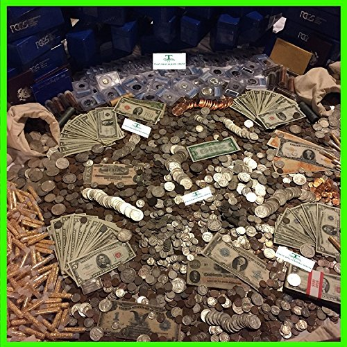 COIN COLLECTABLE ESTATE LOT OLD US COINS GOLD .999 SILVER BARS BULLION MONEY HOARD PCGS SALE Coin Made During World War II ,Great Depression ,During The 1800's,Native Indian Design