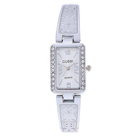 jocestyle Mujer Elegante Reloj Cuadrado esfera pulsera relojes imitación señoras reloj de pulsera