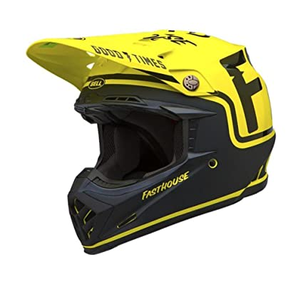 Bell Moto-9 Full-Face Motorcycle Helmet (Fasthouse Black/Flo Yellow,