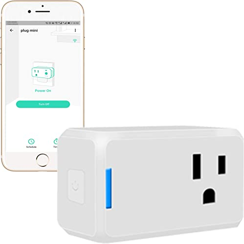 YoLink Mini Plug, 1 4 Mile World s Longest Range Smart Home Plug Mini Outlet Work with Alexa Google Assistant IFTTT APP Remote Control Home Appliances from Anywhere ETL Certified – YoLink Hub Required