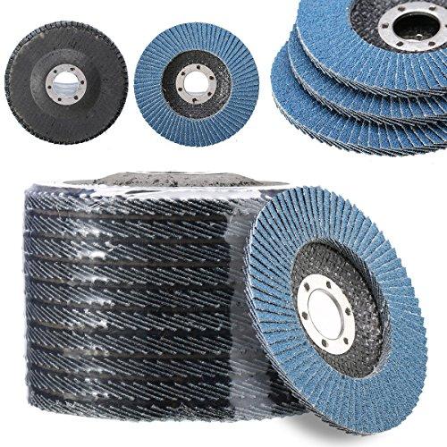 10pcs 115mm 80 Grit 4.5 Inch Zirconium Oxide Flap Disc Sanding Grinding Wheel (Foley Ceramic)