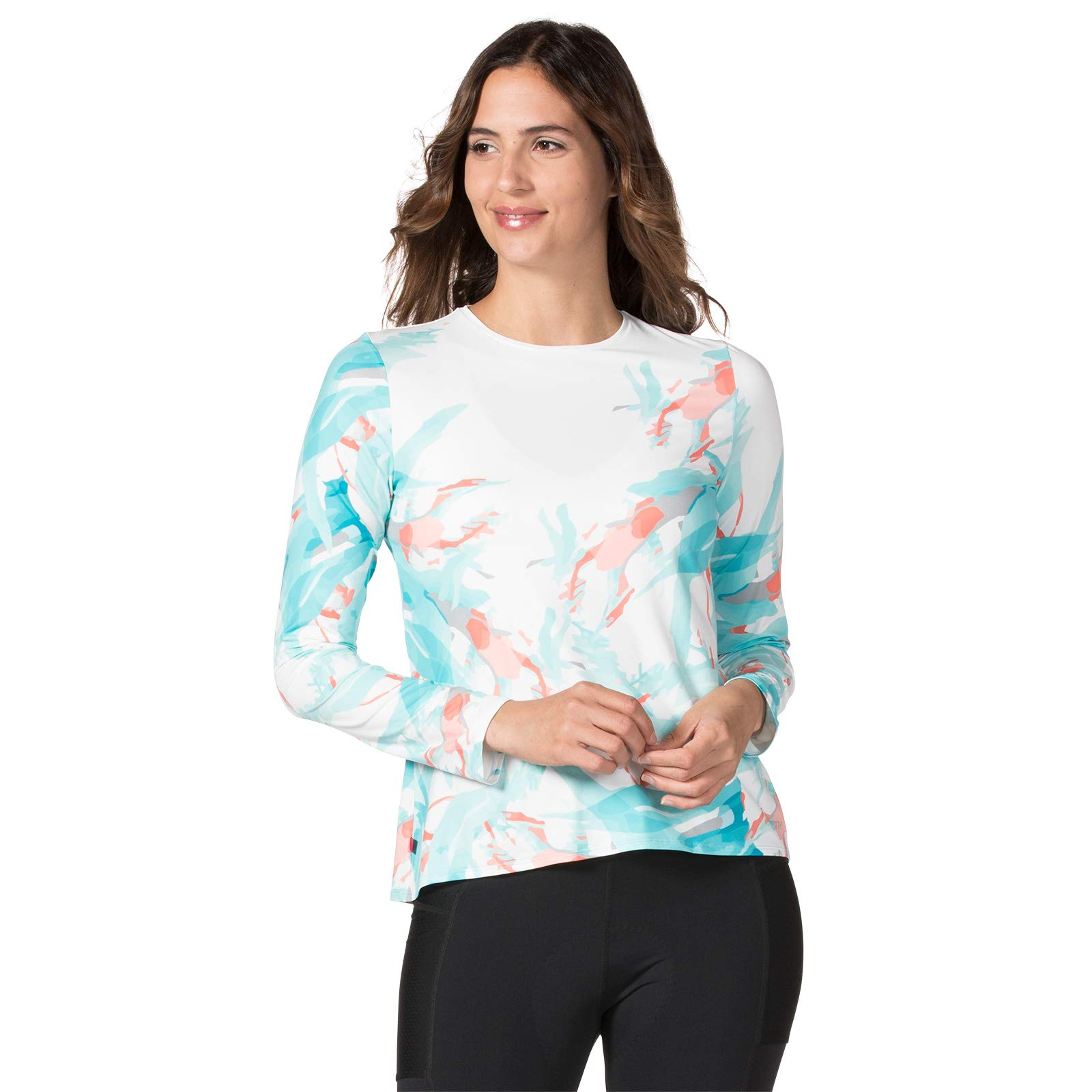 Terry Soleil Flow Long Sleeve Cycling Top for Women - Lightweight Ladies Athletic Top with UPF 50+ Sun Protection- Watercolor - X Small by Terry