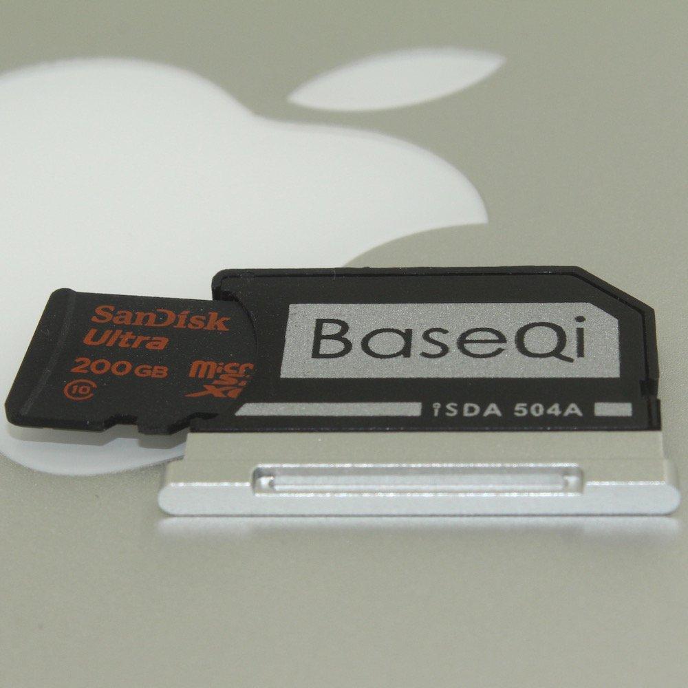 BASEQI FBA_iSDA504ASV aluminum microSD Adapter works with MacBook Pro 15'' Retina (Late 2013 onwards)