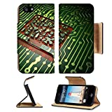 Liili Premium Apple iPhone 5 iphone 5S Flip Pu Leather Wallet Case Education concept circuit board with Computer Pc icon 3d render iPhone5 Photo 24452800 Simple Snap Carrying