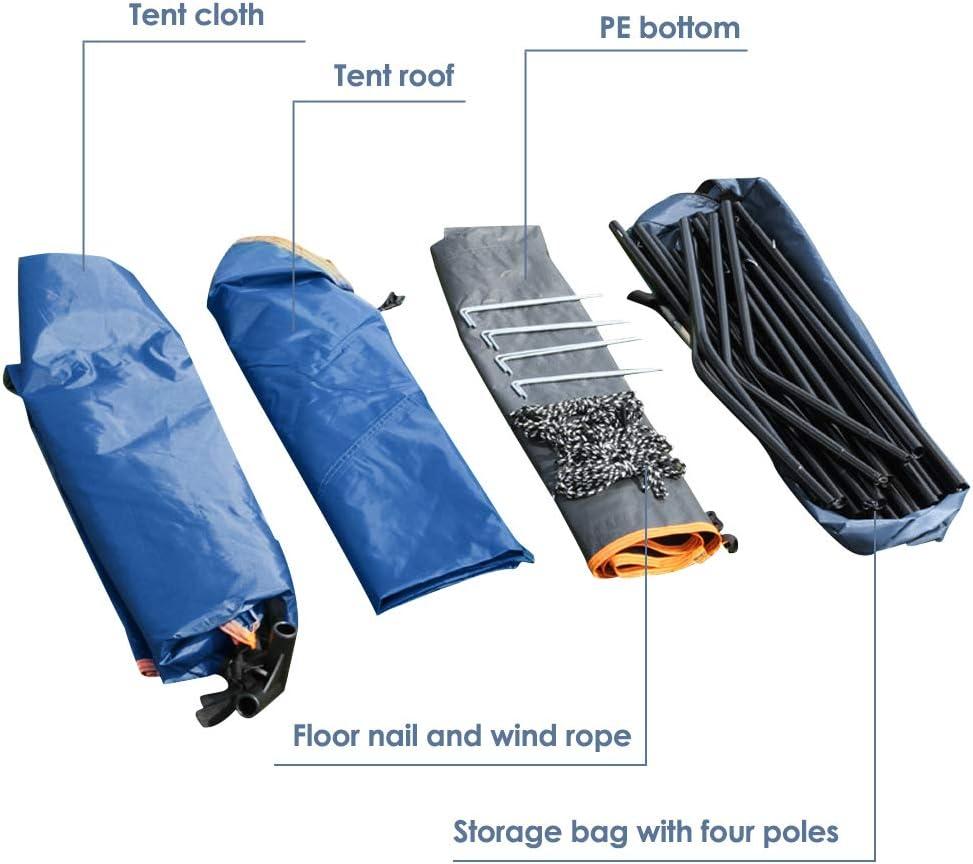 20L Duschtasche und Tragbarer klappbarer Toilettensitz mit M/ülls/äcken zum Wechseln//Duschen//WC S SMAUTOP Tragbares Au/ßenduschzelt Gro/ßraum-Sichtschutz Zelt und 5 Gallonen