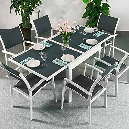 Ruby   extensible 180 cm mesa y 6 sillas juego de muebles de ...