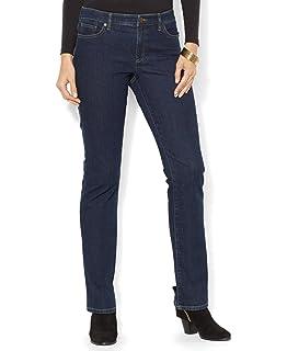 5f546aaf14d Lauren by Ralph Lauren Womens Petite Slimming Modern Curvy Jeans