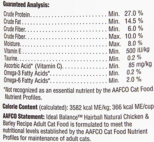 Ideal Balance Hairball Cat Food Lb