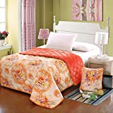 HOMEE Coral Large Armful Pillows Quilt Dual-Use Thick Rest Quilt Air-Conditioning and Cool in the Summer is Cotton Automotive Pillow,Orange,5353